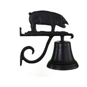 Montague Metal Products CB-1-78-SB Cast Bell With Satin Black Pig Ornament