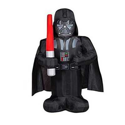 Star Wars 5' Tall Darth Vader with Light Saber Halloween Airblown Inflatable