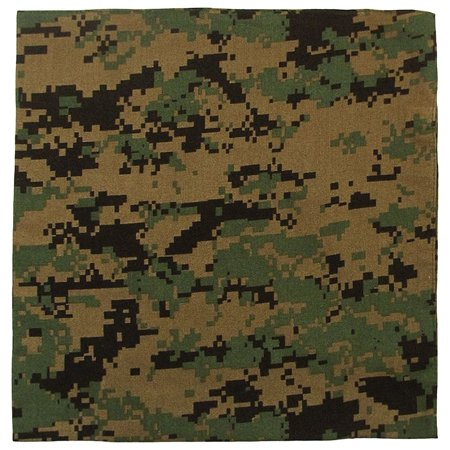 Digital Woodland Green (Rothco Large Digital Camo Bandana 27