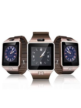 Amazingforless Gold Bluetooth Smart Wrist Watch Phone mate for Android Samsung HTC LG Touch Screen with Camera