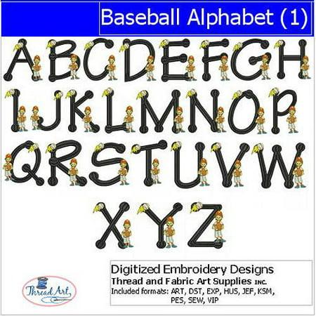 ThreadArt Machine Embroidery Designs Baseball Alphabet(1) CD