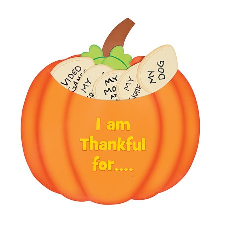 IN-13658985 Thankful Pumpkin Craft Kit Makes 12 (Pumpkin Craft)