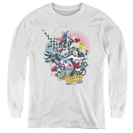 Trevco Sportswear DCO522-YL-2 DC & Power Trio-Youth Long Sleeve Tee, White - Medium - image 1 of 1