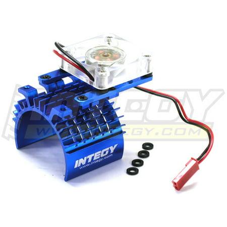 Integy RC Toy Model Hop-ups C22470BLUE Super Motor Heatsink+Cooling Fan 540/550