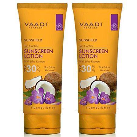 Vaadi Herbals Sunscreen Lotion SPF-30, 110g (Pack of