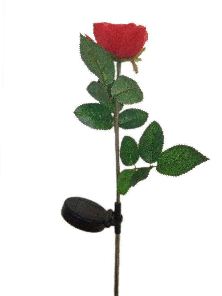 Lightahead® Solar Powered LED Red Rose Flower Garden Stake Light Decorative  Night Lamp For Garden