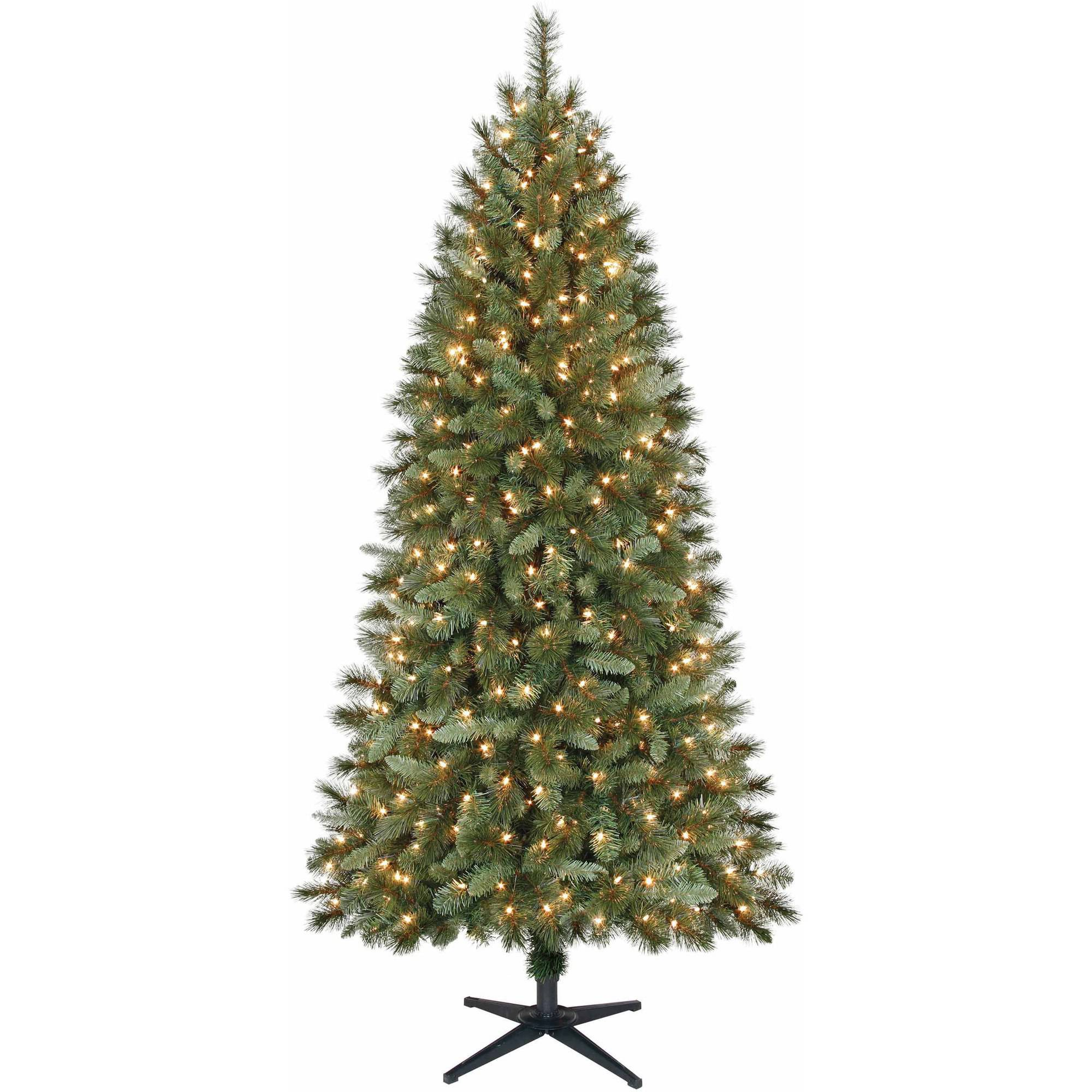 Holiday Time Pre-Lit 7\' Scottsdale Pine Artificial Christmas Tree ...