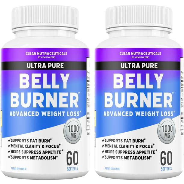Belly Fat Burner Pills - CLA - Conjugated Linoleic Acid Softgels - Slim Stomach & Abdominals - Natural & Keto Diet Friendly Supplement for Men & Women - 120 Servings - 2 Bottles