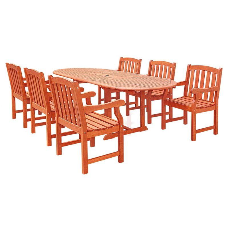Vifah Vista 7 Piece Wood Patio Dining Set