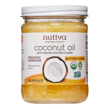 Nutiva Organic Coconut Oil, Buttery Flavor, 14 Fl Oz