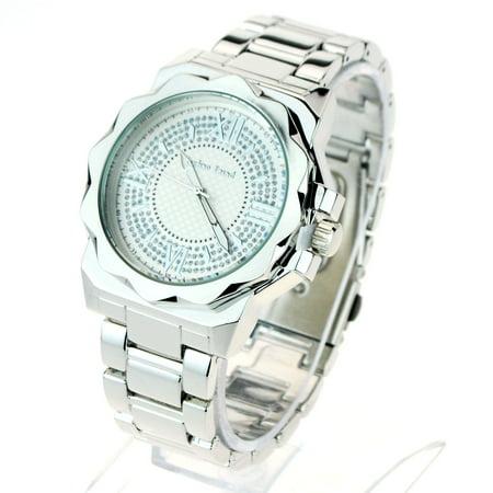 Mens Bling Luxury Baller Metal Band Fashion Wrist Watch (Band Bling Watch)