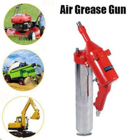 HERCHR Air Grease Gun, One-Hand Pistol Grip Air Grease Gun Delivers 1200-6000psi w/ Extension Set, Mini Air Grease - Grease Set