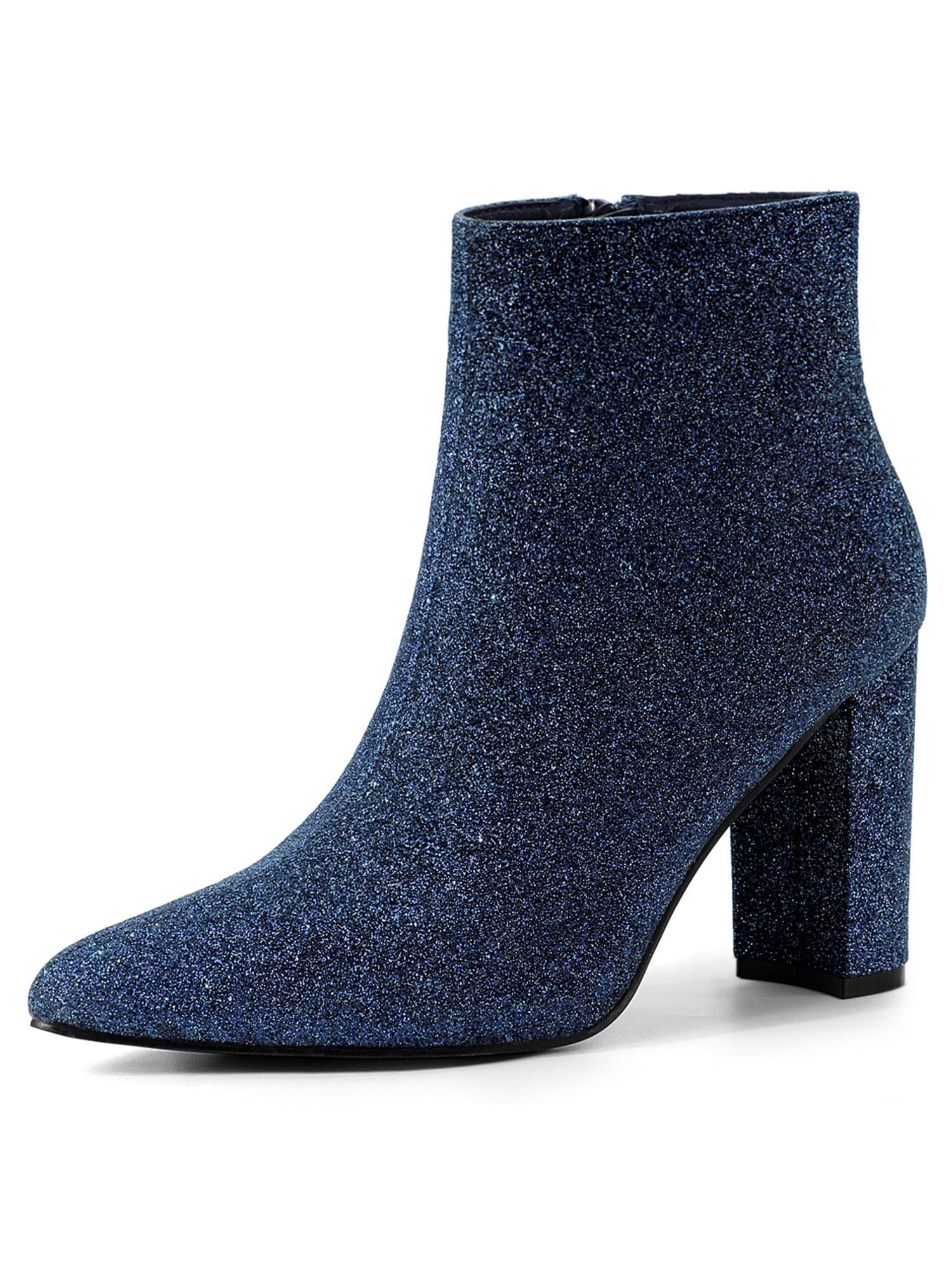 Allegra K Women's Glitter Pointed Toe