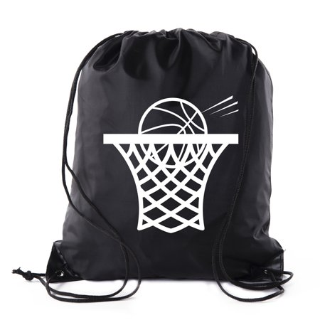 Mato & Hash Basketball Drawstring Bags with 3,6, and 10 pack bulk options (Softball Drawstring Bags)