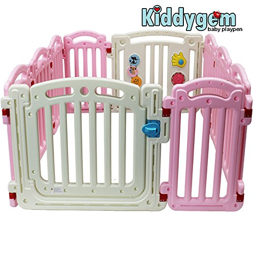 Kiddygem baby playpen - M7 extra tall (Pink)