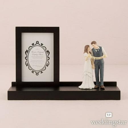 Wooden Keepsake Display Stand - Weddingstar 9052 Wooden Keepsake Display Stand Black Finish