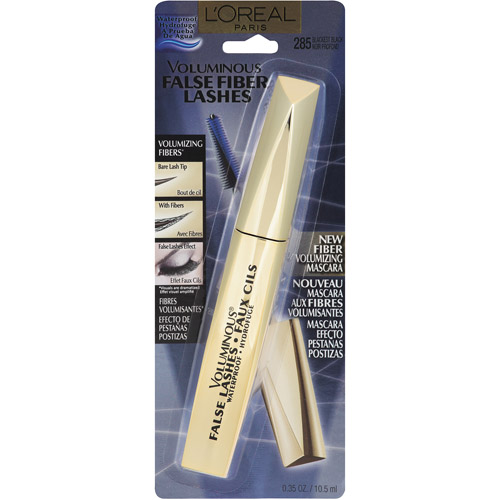 L'Oreal Paris Voluminous False Fiber Lashes Waterproof Mascara, 285 Blackest Black