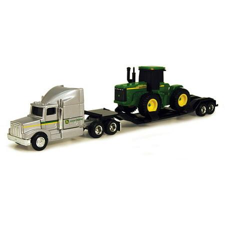 - John Deere 1/64 Farm Hauler Semi with 4WD Tractor Play Set
