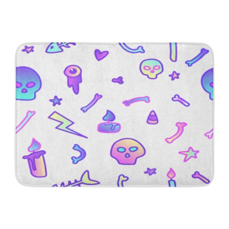 LADDKE Cute in Pastel Colors on White 80S Goth Great for Halloween Party and Flyers Doormat Floor Rug Bath Mat 23.6x15.7 inch - Walmart Flyer Halloween