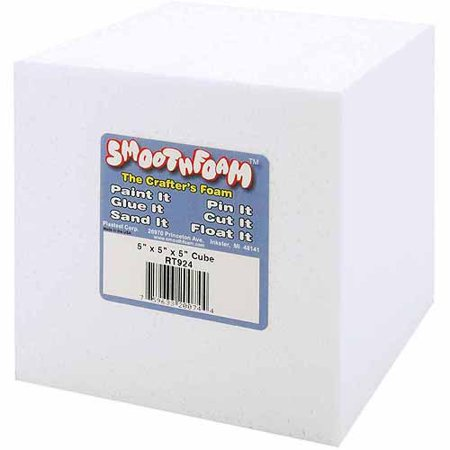 Smooth White Foam Cube, 5