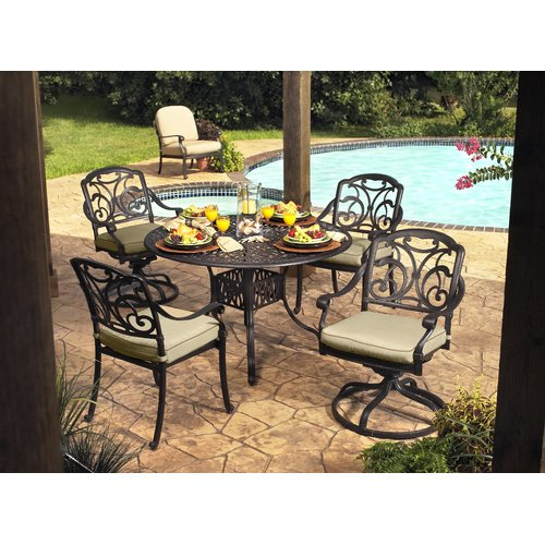 Hazelwood Home Wes Dining Armchair with Cushion (Set of 4) by
