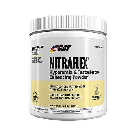 GAT Nitraflex hyperémie & testostérone Amélioration Pwd - ananas 30 Portions