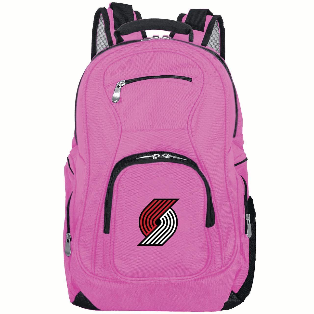 NBA Portland Trailblazers Pink Premium Laptop Backpack