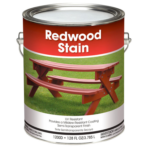 Solid Redwood Stain, 1 gal