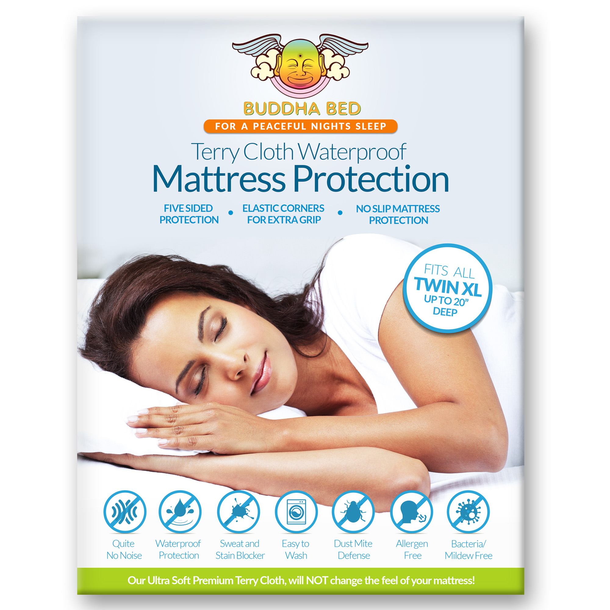 Twin XL Mattress Protector. 100% Waterproof- Blocks Sweat, Stains and Urine. Ultra Soft,... by LIONFINCH