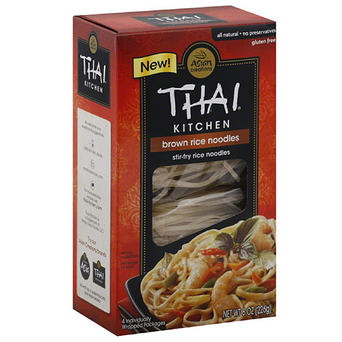 Thai Kitchen Brown Rice Stir-Fry Noodles, 8 oz, (Pack of 6)