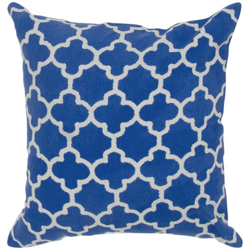 Rizzy Home Two Color Trellis Pattern Decorative Throw Pillow