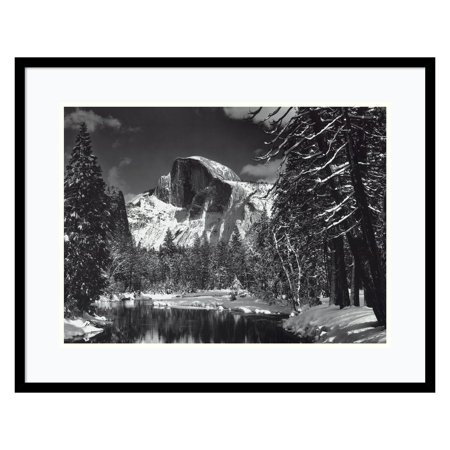 Half Dome, Winter - Yosemite National Park, 1938 Framed Wall Art by Ansel Adams - 29W x 23H (Ansel Adams Gallery Yosemite National Park)