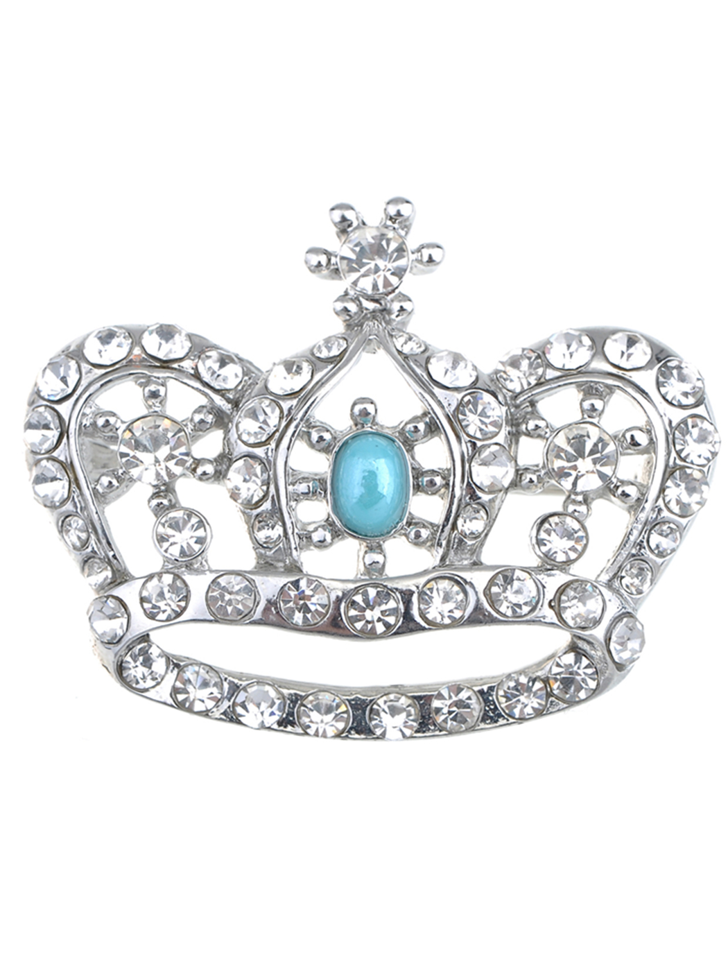 ChicEngland Royal Prince Queen Crown Crystal Rhinestone Pin Brooch by