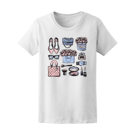 Fashion Sketch Items Makeup Women's Tee - Image by Shutterstock](Makeup Sketch)