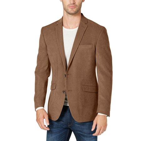 Kenneth Cole Reaction Men's Slim-Fit Ultrasuede Sport Coat In Brown 36S