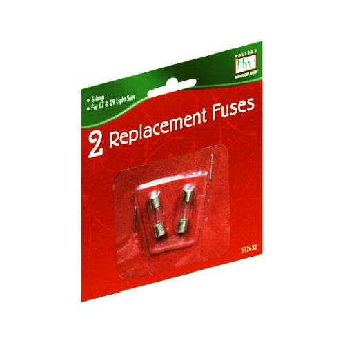 NOMA/INLITEN-IMPORT Replacement Fuse, For Standard Christmas C7 & C9 Light Set, 5-Amp, 2-Pk.