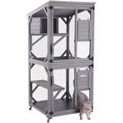 Best Cat Cages - Aivituvin Cat House Outdoor Kitten Cage Wooden Enclosure Review