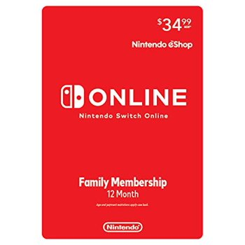 Nintendo Switch Online Family 12 Month Subscription [Digital Download]
