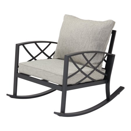 - Better Homes & Gardens Bay Ridge Rocking Chair with Gray Cushions