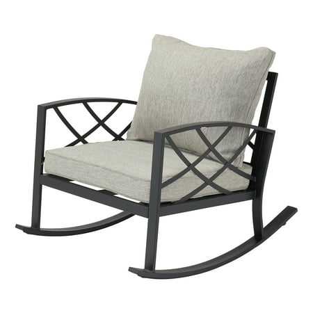 Wondrous Better Homes Gardens Bay Ridge Rocking Chair With Gray Caraccident5 Cool Chair Designs And Ideas Caraccident5Info