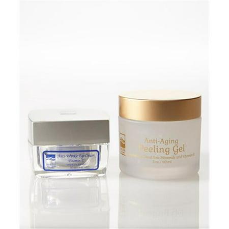 Dead Sea Mineral Eye (Dead Sea Spa Care DeadSea-1021 1 oz Anti-Wrinkle Eye Cream, 3 oz New Anti-Aging Peeling Gel )