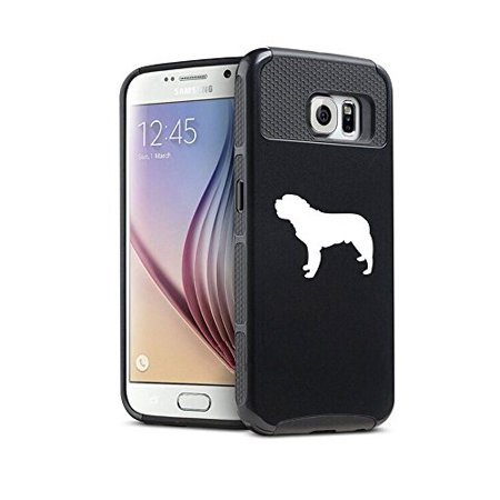 Samsung Galaxy S6 Edge Plus+ Shockproof Impact Hard Case Cover Saint Bernard (Black ),MIP