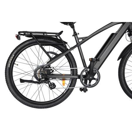 "T4B Enduro Hard Tail City and All Terrain Bike - Bafang 350W Brushless Electric Motor, 8 Speed, Samsung Li-Ion Battery 36V13Ah, 27.5"" Tires - Black - image 8 de 12"
