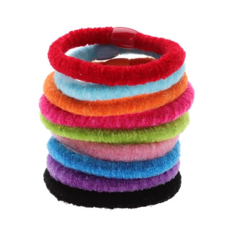 AkoaDa Headband Hair Ring Versatile Candy Color Beaded Cotton Hair Rope  Creative