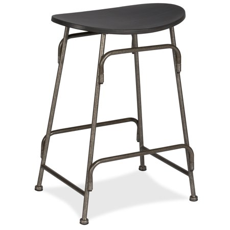 Hillsdale Furniture Mitchell Metal Backless Counter Height Stool, Old Bronze