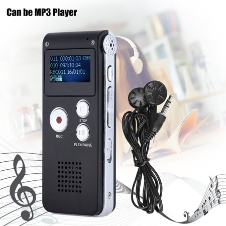 - 8GB Intelligent Digital Audio Voice Phone Recorder Dictaphone MP3 Music Player Voice Activate VAR A-B Repeating