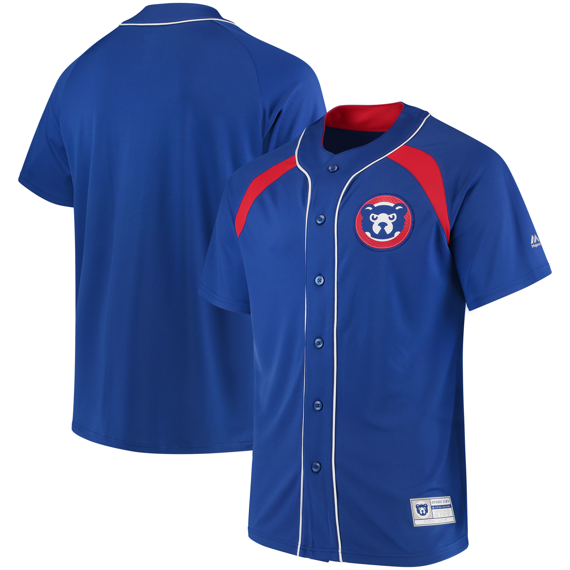 Chicago Cubs Majestic Cooperstown Collection Peak Power Fashion Jersey - Royal/Red