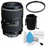 Tokina 100mm f/2.8 AT-X M100 AF Pro D Macro Autofocus Lens for Nikon AF-D (International Model) No Warranty+Deluxe Cleaning Kit + 55mm UV Filter + Deluxe Lens Pouch Bundle 5