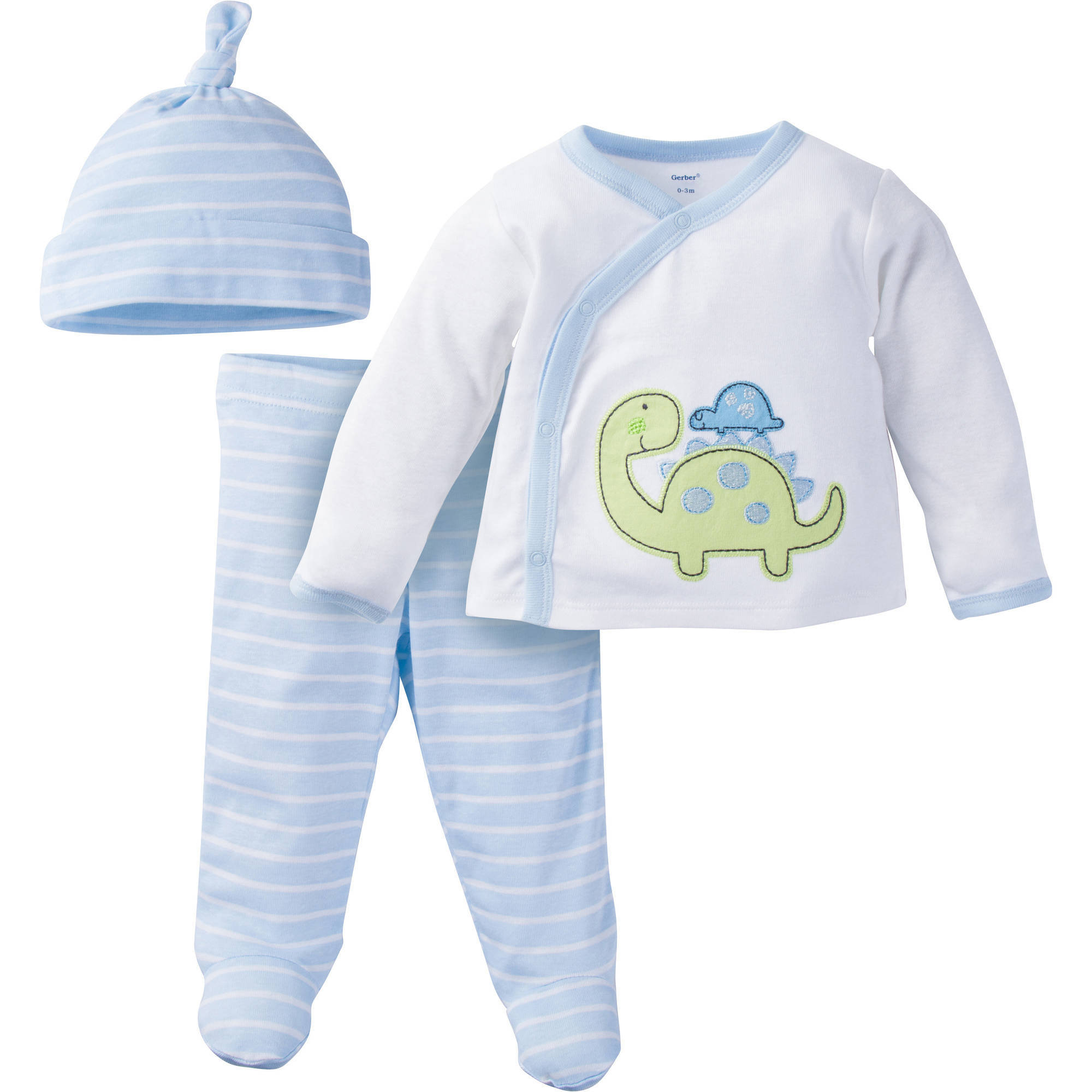 Gerber Newborn Baby Boy Take-Me-Home Outfit Set, 3-Piece