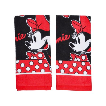 Minnie Mouse Kitchen Dish Towels 2-Piece Set Red Black - image 2 of 2